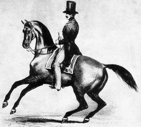 François Baucher riding Partisan