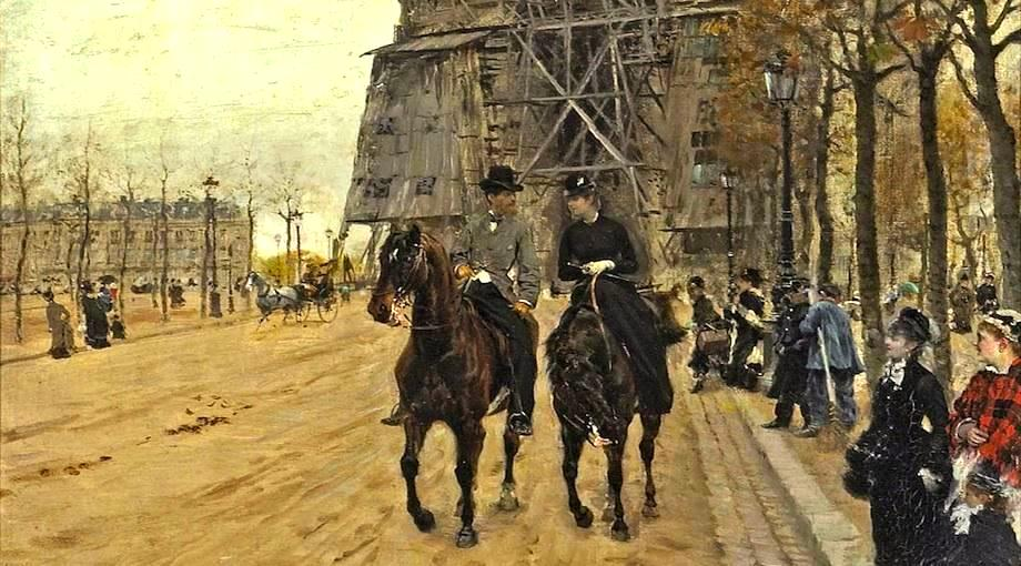 Giuseppe de Nittis, A ride along the Avenue des Champs-Elysées , 1874 (private collection)
