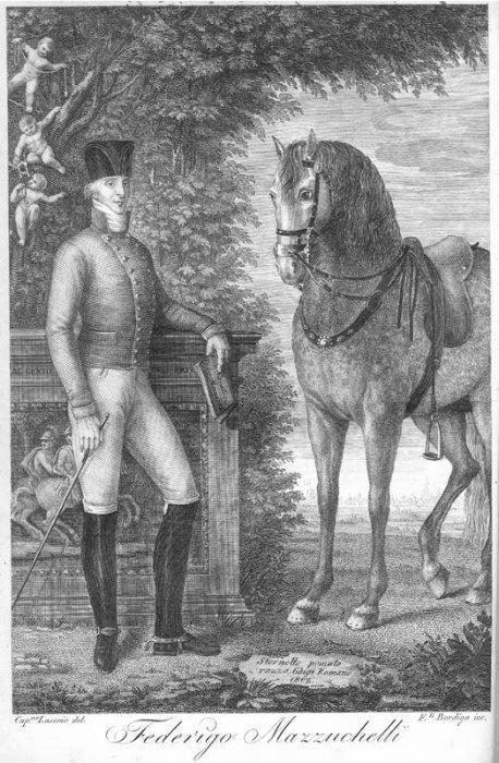 Federico Mazzucchelli e il suo cavallo Stornello (da Scuola Equestre)