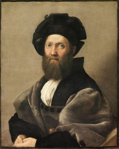 Baldassare Castiglione portrayed by Raffaello (1514-15) Louvre Museum - Paris