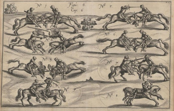 "The ""a la brida"" style was the typical technique of heavy cavalry (in Johann Jacobi von Wallhausen, Ritterkunst, Franckfurt, 1616)"