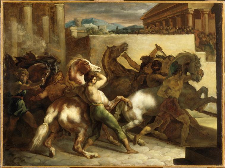 Théodore Gericault, Riderless Horse Races, 1817, Paris Musée du Louvre