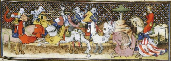 In the fifteenth century, Dom Duarte claimed that riding a horse formed a person's character because it instills courage (The tournament of Camelot, miniature from Gautier Map, Le livre de messire Lancelot du Lac,  manuscript of the fifteenth century Source: gallica.bnf.fr / Bibliotèque nationale de France)