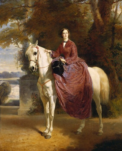 Charles Édouard Boutibonne, The Empress Eugénie on horseback, 1856 © The Royal Collection