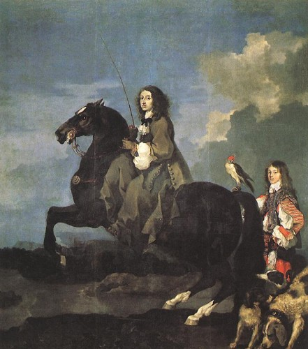 Sébastien Bourdon, Christina of Sweden, 1653, Madrid, Museo del Prado