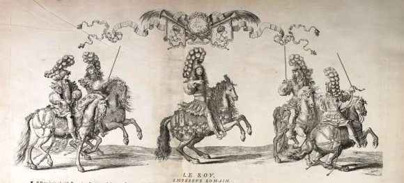The grand carousel organized under the riegn of Louis XIV,  in 1662, to celebrate the birth of the Grand Dauphin,  was the most lavish public spectacle of the reign of the