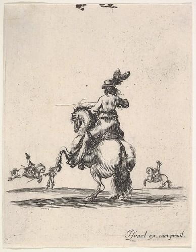 Stefano Della Bella, Pesade, da Diverses exercices de cavalerie, circa 1642-1645 © Metropolitan Museum of Art - New York