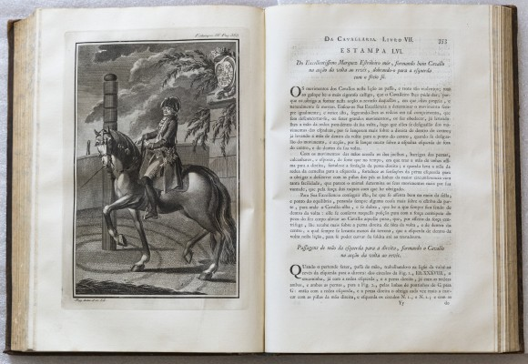 Il marchese di Marialva, antenato di Dom Diogo de Bragança, in una stampa del trattato di Manoel Carlos de Andrade (1790)