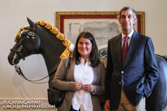 La giovane direttrice, Teresa Abrantes, e il mestre picador-chefe, João Pedro Rodrigues, hanno saputo imprimere una svolta all'attività della Scuola Foto © Cátia Castro