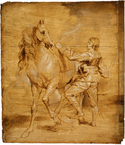 Anthony Van Dyck (attributed), Man Mounting a Horse Attributed - Anthony van Dyck, around 1630 © Metropolitan Museum of Art - New York
