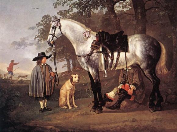 Aelbert Cuyp, Grey Horse in a Landscape, XVII sec Museum Boijmans Van Beuningen, Rotterdam