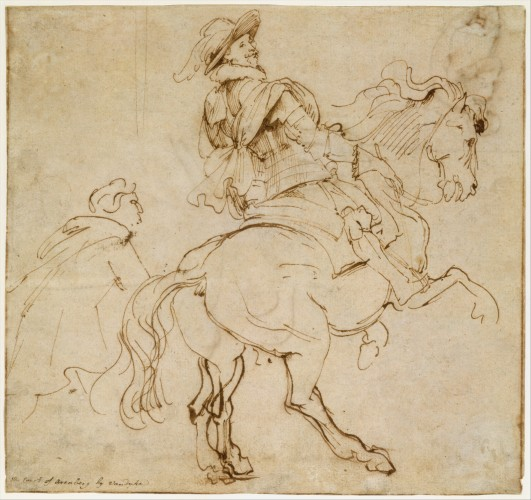 Anthony Vand Dyck, Study for an Equestrian Portrait, Possibly that of Albert de Ligne, Count of Arenberg, 1628-32 © Metropolitan Museum of Art - New York