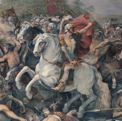 Giuseppe Cesari, named Cavalier d'Arpino, Battle between the Romans and the Veienti (detail), Roma, Palazzo dei Conservatori, 1597