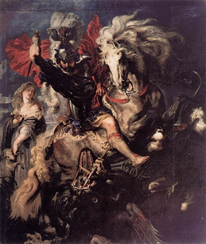 Peter Paul Rubens, St. George Fighting the Dragon, 1606-10 Museo del Prado, Madrid