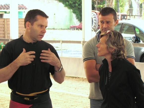 Daniel Anz, Emiliano Scipioni e la dottoressa Caroline Rengot che, oltre alla sua esperienza di veterinaria, ha messo a disposizione dei partecipanti le sue capacità di interprete