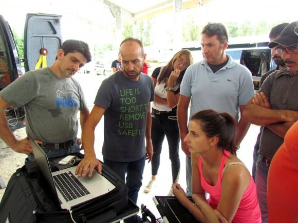 Al corso hanno partecipato anche alcuni veterinaria specialisti  degli arti, che hanno verificato con le radiografie gli effetti del metodo Balance F. (da sinistra) Ermanno Ciavarella, Gioacchino Ventura, Lorenzo d'Arpe