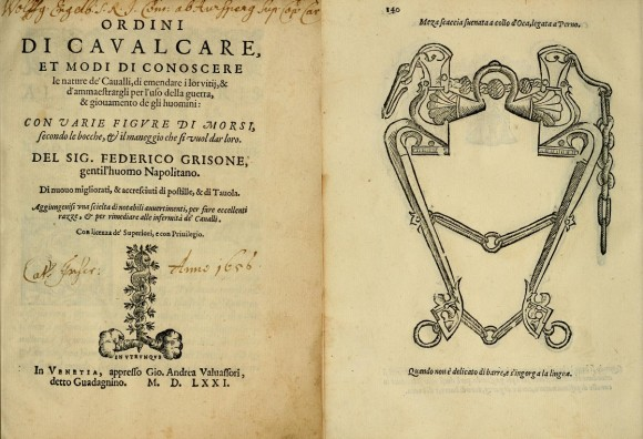 Ricordo ancora con quanta emozione sfogliai per la prima volta un'edizione cinquecentesca degli Ordini di cavalcare di Federico Grisone