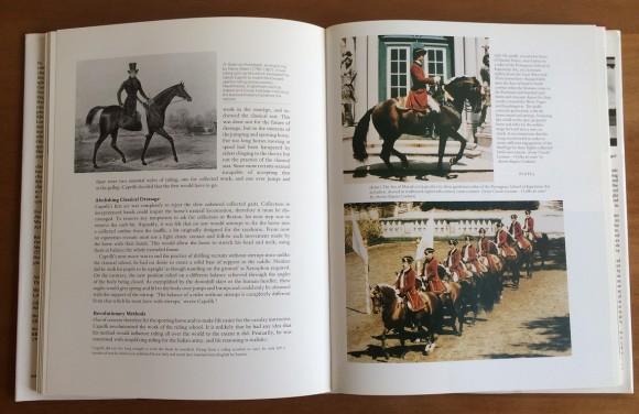 Una foto nel libro ritraeva un gruppo di cavalieri portoghesi che si esibivano nei giardini del Palazzo di Queluz