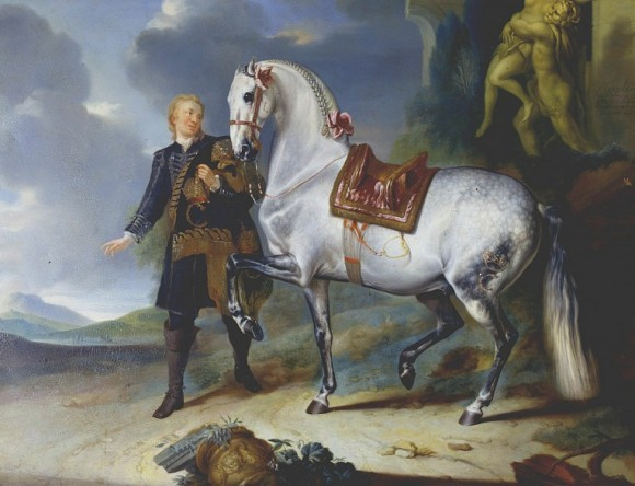 Johann Georg Hamilton, Equine portrait from the Rösslzimmer at Schönbrunn Palace,18th century