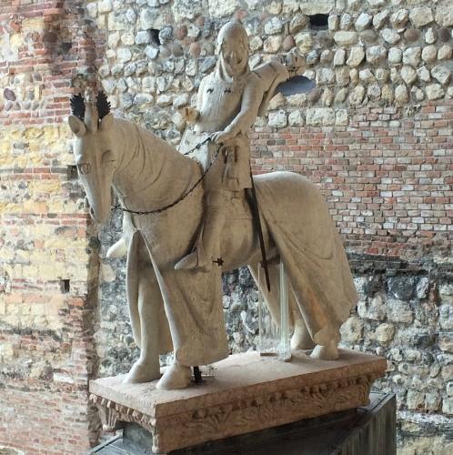 Statua di Cangrande della Scala (circa 1340) Museo civico di Castelvecchio Verona