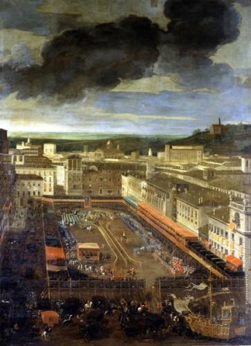 Filippo Gagliardi e Andrea Sacchi, La Giostra del Saracino a Piazza Navona (1656-1659) Museo di Roma - Palazzo Braschi