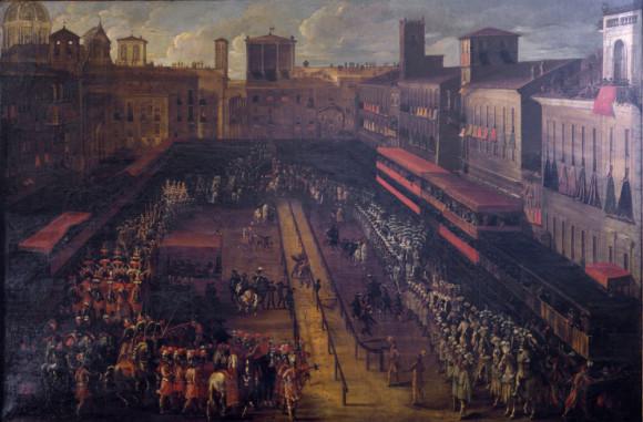 Giovanni Ferri, Giostra del Saracino a piazza Navona del 25 febbraio 1634 (XVII sec ) Museo di Roma - Palazzo Braschi
