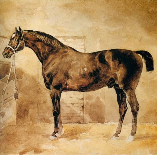 Théodore GÉRICAULT, Cavallo inglese nella stalla, 1810-12 Musée du Louvre - Paris