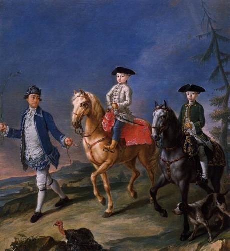 Pietro Longhi, Passeggiata a cavallo, 1755-60 Museo del Settecento, Ca Rezzonico - Venezia
