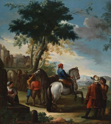 Ginés Andrés De Aguirre, Mercato di cavalli, secolo XVIII Museo del Prado - Madrid