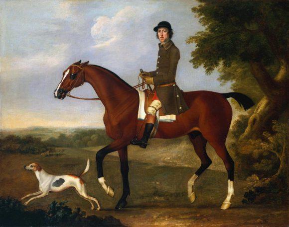 James Seymour, Mr Russell sul suo cavallo baio da caccia, c.1740 © Tate Modern Gallery - Londra