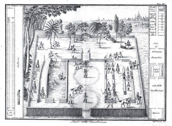 Mazzucchelli resta legato alla tradizione accademica europea Basilio Lasinio, Cavallerizza, in MAZZUCCHELLI, 1805