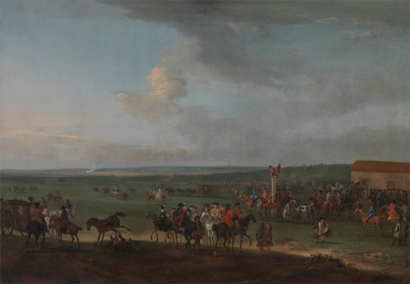 Horse racing soon became social events Peter Tillemans, Going to the Start for the King's Plate Newmarket Horse Race, 1725ca © Yale Center for British-Art - Paul Mellon Collection