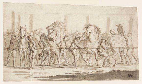 David Allan, La mossa della Corsa dei Barberi a Roma, circa 1767-77 © Tate Modern Gallery - Londra