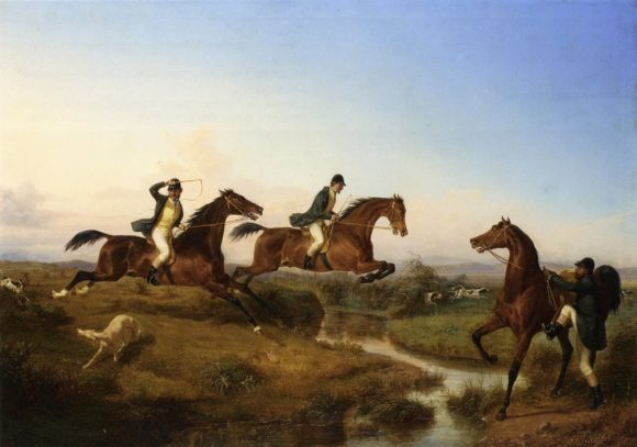 "In the nineteenth century, the ""English"" clothing will be of rigor across Europe Filippo Palizzi, Hunting in the Neapolitan campaign, 1847 Private collection"