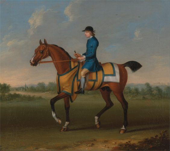 James Seymour, A Bay Racehorse with Jockey Up, ca 1730 Yale Center for British Art
