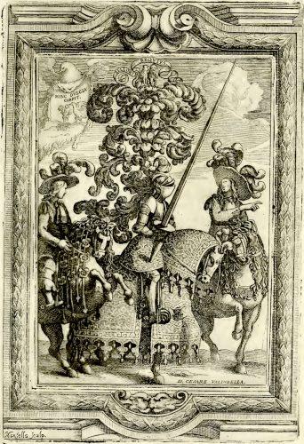 Le splendide tavole de Le guerre festive (Palermo, 1680), mostrano il lusso delle armi e delle bardature impiegate nelle giostre che si tenevano in Sicilia tra il XVI e il XVII secolo