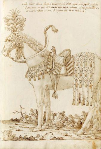 """Corsiero d'Italia con bardatura """"alla leggera"""" Filippo Ursoni, 1554 Royal and Albert Hall Museum - Londra"""