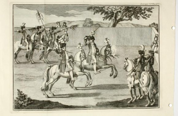 The game of reeds and the carousel joust continued to be practiced in Portugal until the end of the eighteenth century (Carlos de Andrade, Luz da Liberal and Nobre Arte da Cavalleria, 1790)