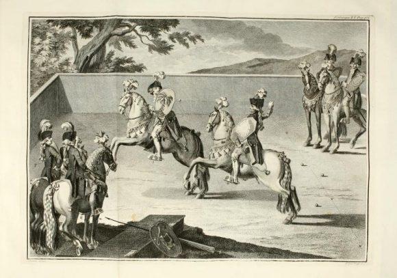 Carousel joust Carlos de Andrade, Luz da Liberal e Nobre Arte da Cavallaria (1790)