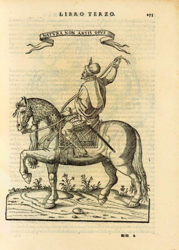 "Dom Duarte is the first one to write about the ""a la gineta"" riding style (Pirro Antonio Ferraro, Cavallo frenato, 1602)"